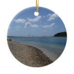 Sailboat in the Distance at St. Thomas Ceramic Ornament