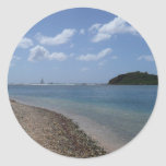 Sailboat in the Distance at St. Thomas Classic Round Sticker