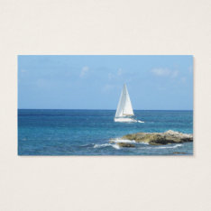 Sailboat In The Ocean Business Card at Zazzle