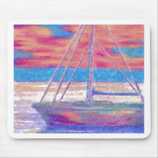 Sailboat in the Sunset CricketDiane Designer Stuff Mouse Pad