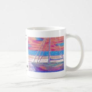 Sailboat in the Sunset CricketDiane Designer Stuff Classic White Coffee Mug