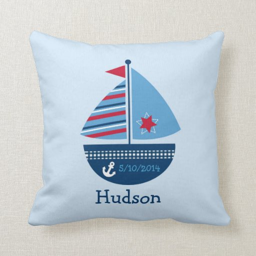 Sailboat Keepsake Pillow