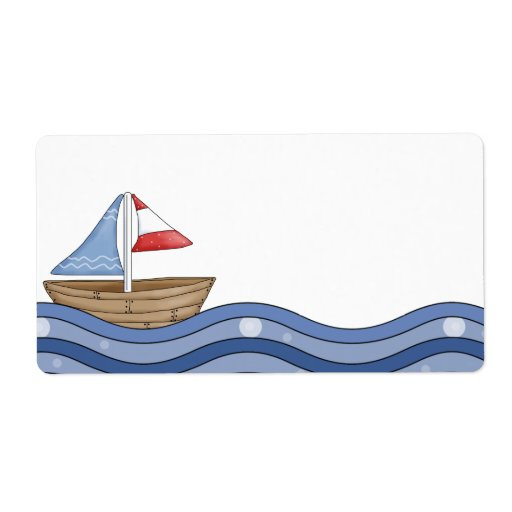 Sailboat Label
