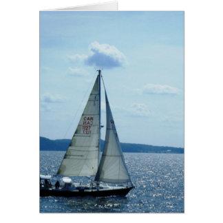 """Sailboat, Lake Champlain"" Card"