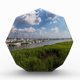 Sailboat Marina and Lush Green Grassland Award