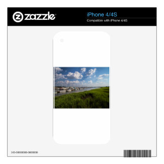 Sailboat Marina and Lush Green Grassland Decal For The iPhone 4S