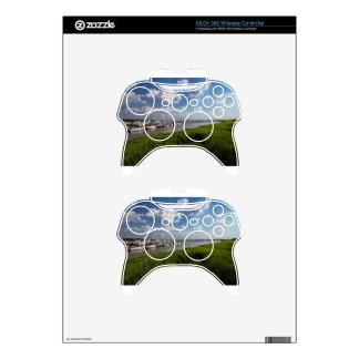 Sailboat Marina and Lush Green Grassland Xbox 360 Controller Skins