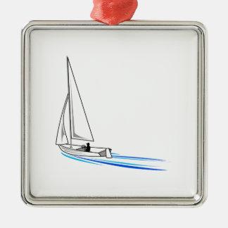 Sailboat Metal Ornament