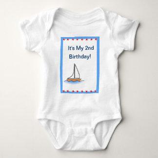 Sailboat Nautical Birthday Baby Bodysuit