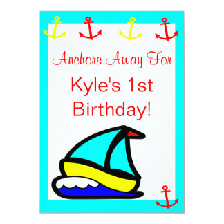 Sailboat Nautical Birthday Card