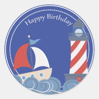Happy Birthday Nautical Stickers Zazzle