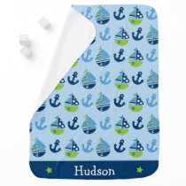 Sailboat Nautical Swaddle Blanket