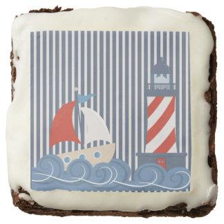 Sailboat Nautical Theme Brownies