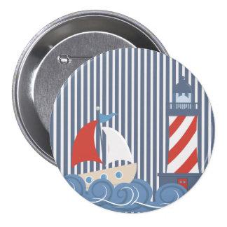 Sailboat Nautical Theme Button