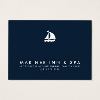 Sailboat Navy Blue Business Gift Certificate