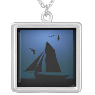 Sailboat Ocean Blue Necklace