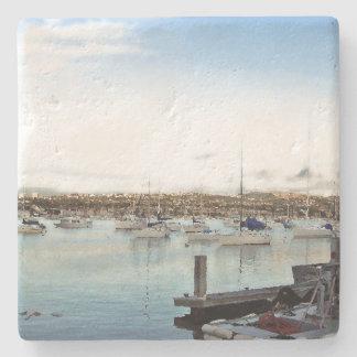 Sailboat Ocean Harbor Sailing Boat Stone Coaster
