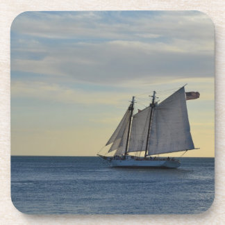 Sailboat off the Coast of Key West FL Beverage Coasters