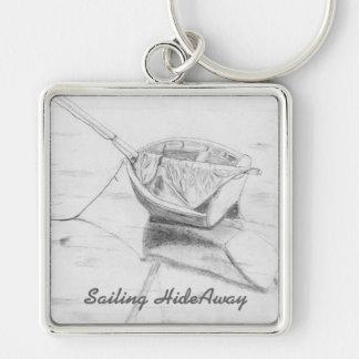 Sailboat on Beach Original Art Keychain