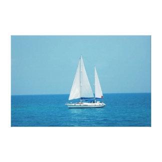 Sailboat on Caribbean Canvas Print