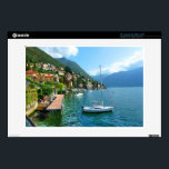"Sailboat on Lake Como 13&quot; Laptop Decal<br><div class=""desc"">Resting before an afternoon sail around Lake Como Italy</div>"