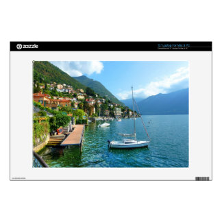 "Sailboat on Lake Como 13"" Laptop Decal"