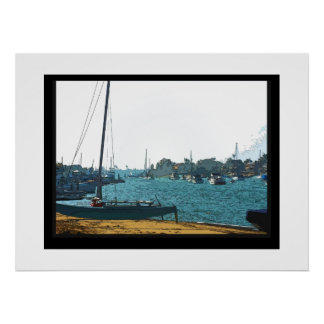 Sailboat on Sand Poster