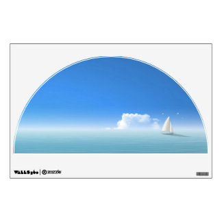 sailboat on the horizon room decal