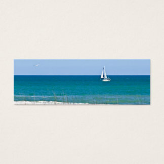 Sailboat on the sea mini business card