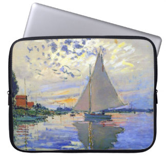 Sailboat on the Seine River Electronics Bag Computer Sleeve