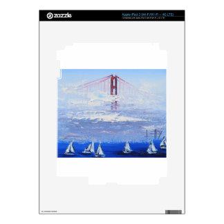 Sailboat Original Painting, Golden Gate Bridge iPad 3 Decal