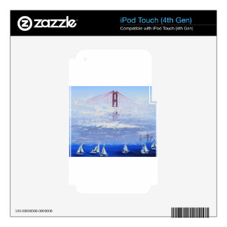 Sailboat Original Painting, Golden Gate Bridge iPod Touch 4G Skins