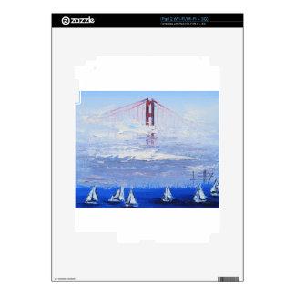 Sailboat Original Painting, Golden Gate Bridge Skin For The iPad 2