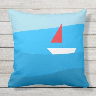 """""""Sailboat"""" Outdoor Pillow"""