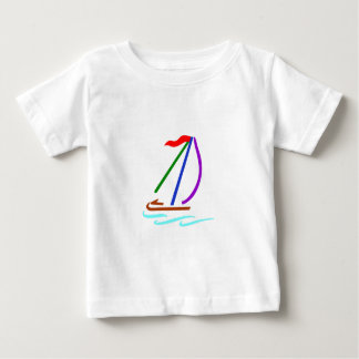 Sailboat Outline Baby T-Shirt