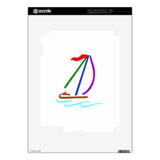 Sailboat Outline iPad 2 Skin