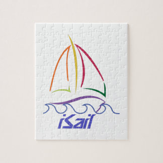 Sailboat Outline Jigsaw Puzzle