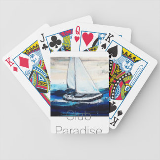 """""""Sailboat Paradise Club """" Bicycle Playing Cards"""
