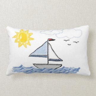 Sailboat Pastels Throw Pillow