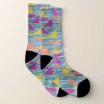 Sailboat Pattern Socks