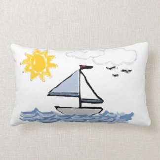 Sailboat PB Throw Pillow