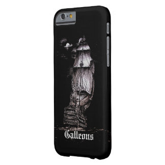 Sailboat Pen & Ink Drawing iPhone 6 cover on Black Barely There iPhone 6 Case