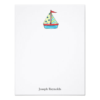Sailboat Personalized Note Cards