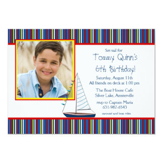 Sailboat Photo Invitation