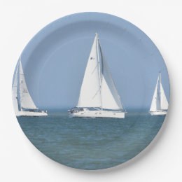 Sailboat Photo on Paper Plates
