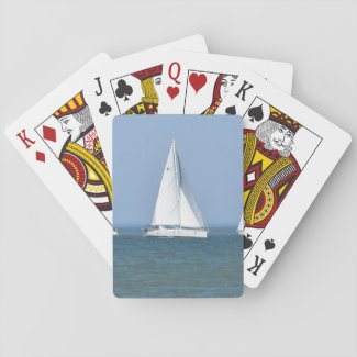 Sailboat Photo Playing Cards