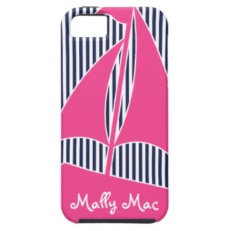Sailboat PInk Monogram Preppy Iphone 5  Case iPhone 5 Covers