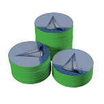 Sailboat Poker Chip Set