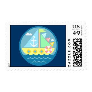 Sailboat Stamps