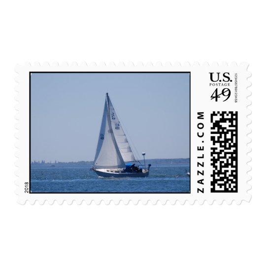 Sailboat Postage Stamp